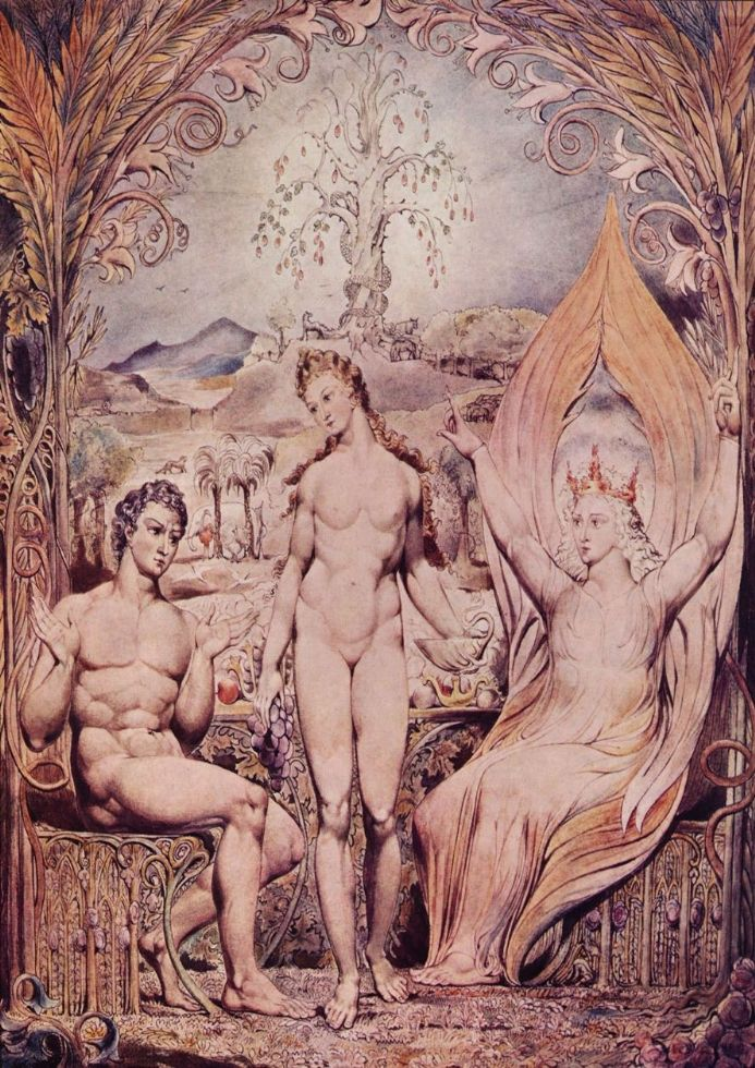 Blake, William: Raphael Warns Adam and Eve. Fine Art Print/Poster. Sizes: A4/A3/A2/A1 (00452)